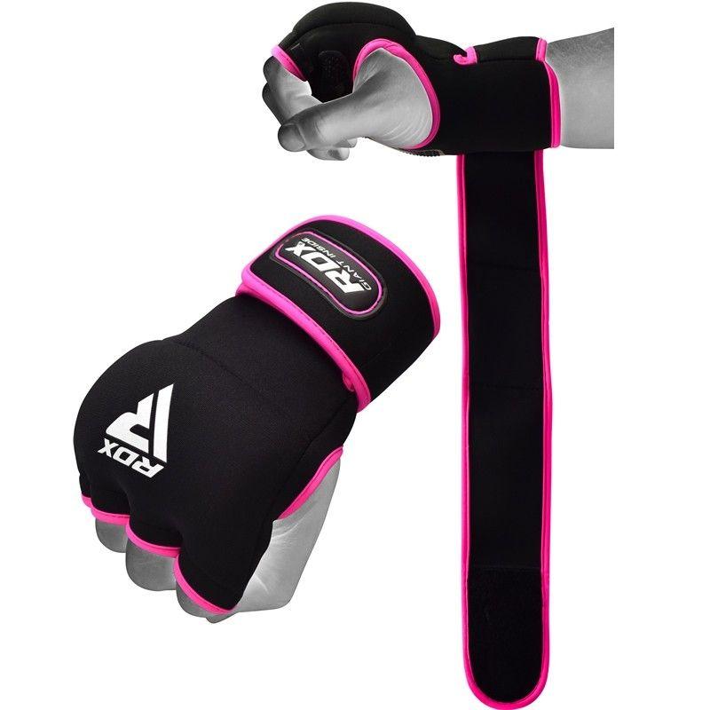 RDX X8 Rosa Boxing Gel Innenhandschuhe mit Handgelenkgurt L Rosa