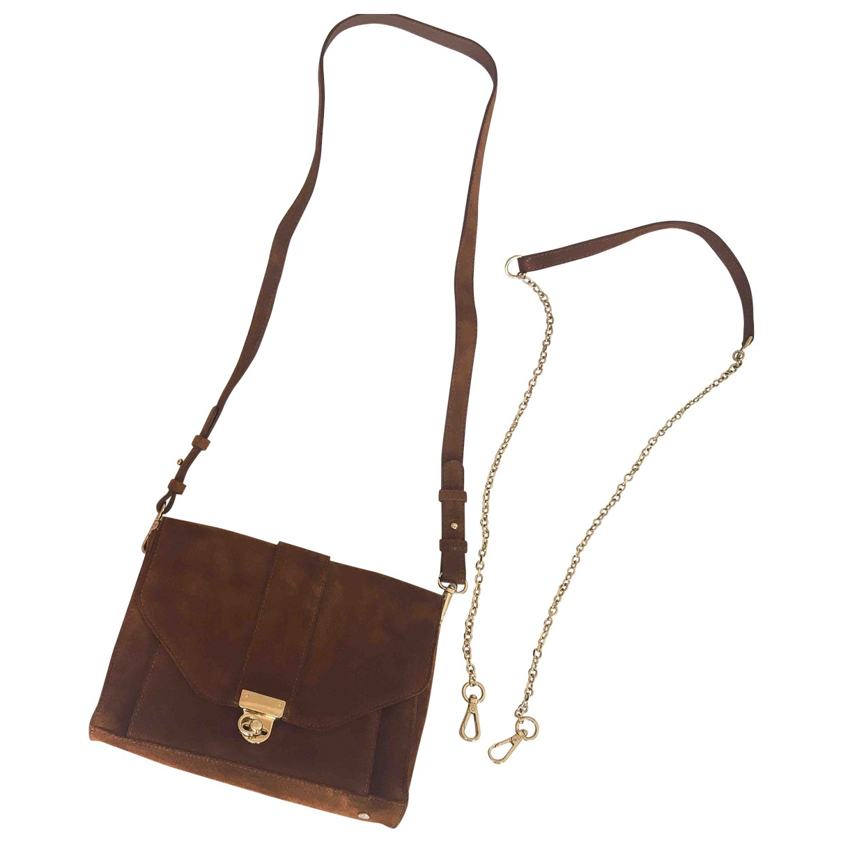 Sézane \N Brown Leather handbag for Women \N