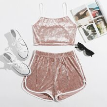 Velvet Ringer Cami & Shorts