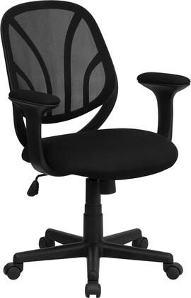 GO-WY-05-A-GG Y-GO Chair™ Mid-Back Black Mesh Computer Task Chair with