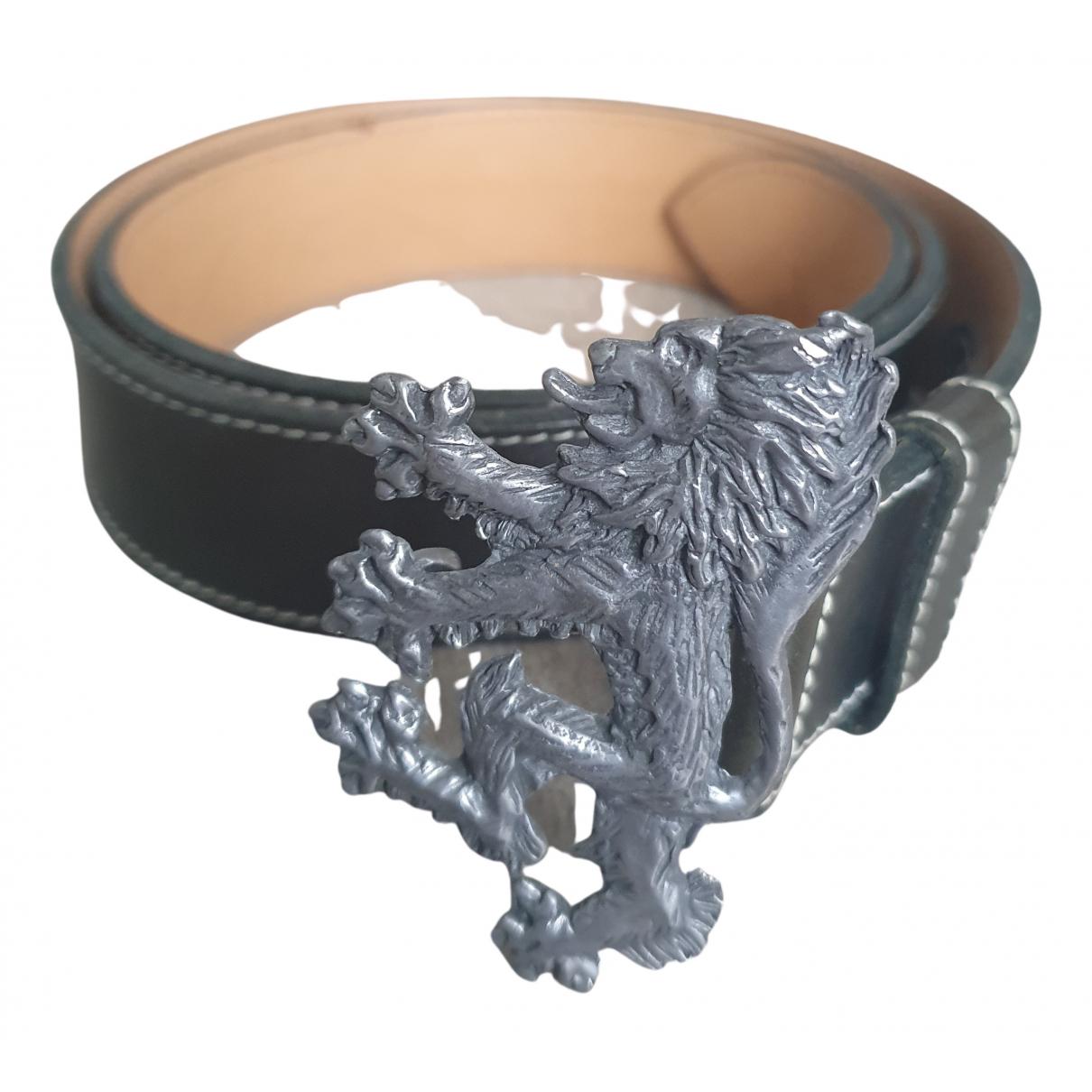 Pringle Of Scotland N Black Leather belt for Men 100 cm