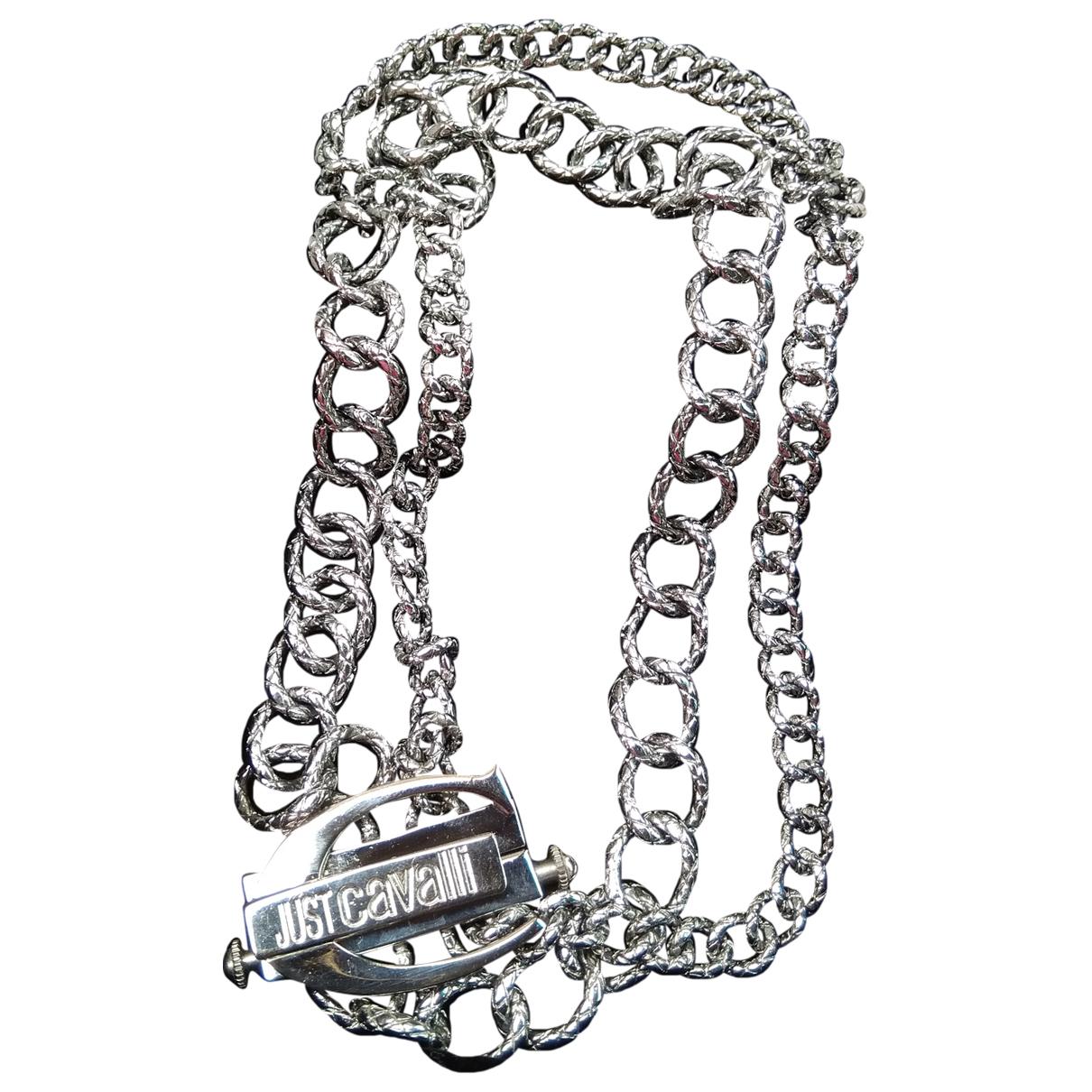 Just Cavalli \N Kette in  Metallic Stahl
