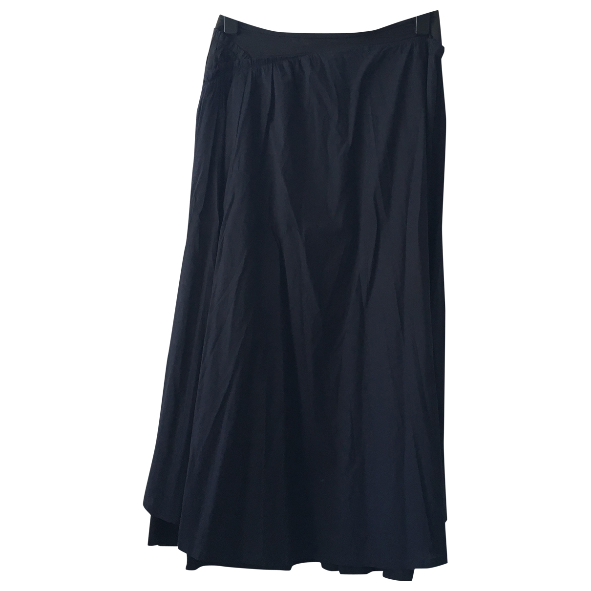 Issey Miyake \N Blue Cotton skirt for Women 4 0-5