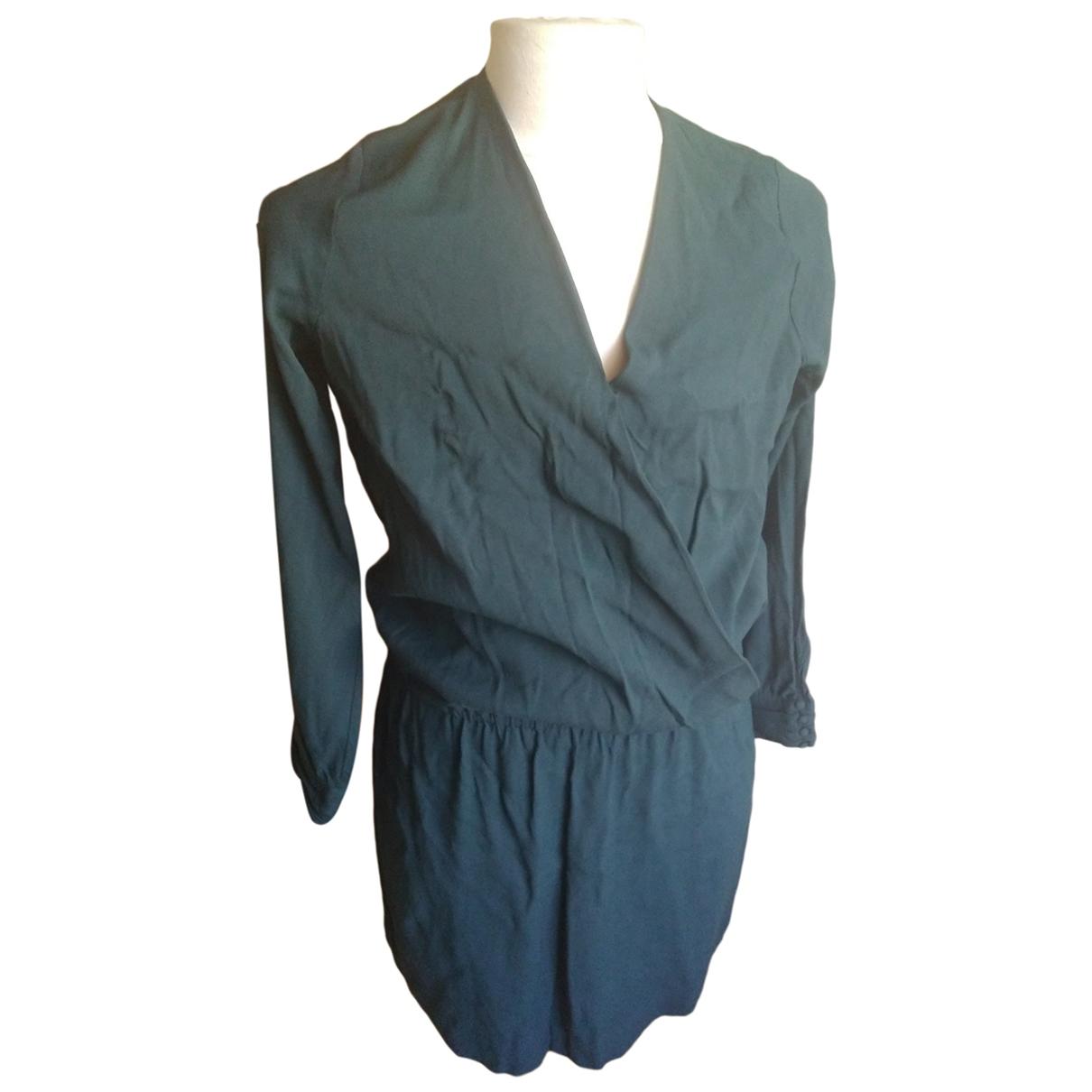 Ikks \N Blue Cotton - elasthane dress for Women 44 FR