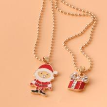 2 piezas collar con Santa Claus de niñas