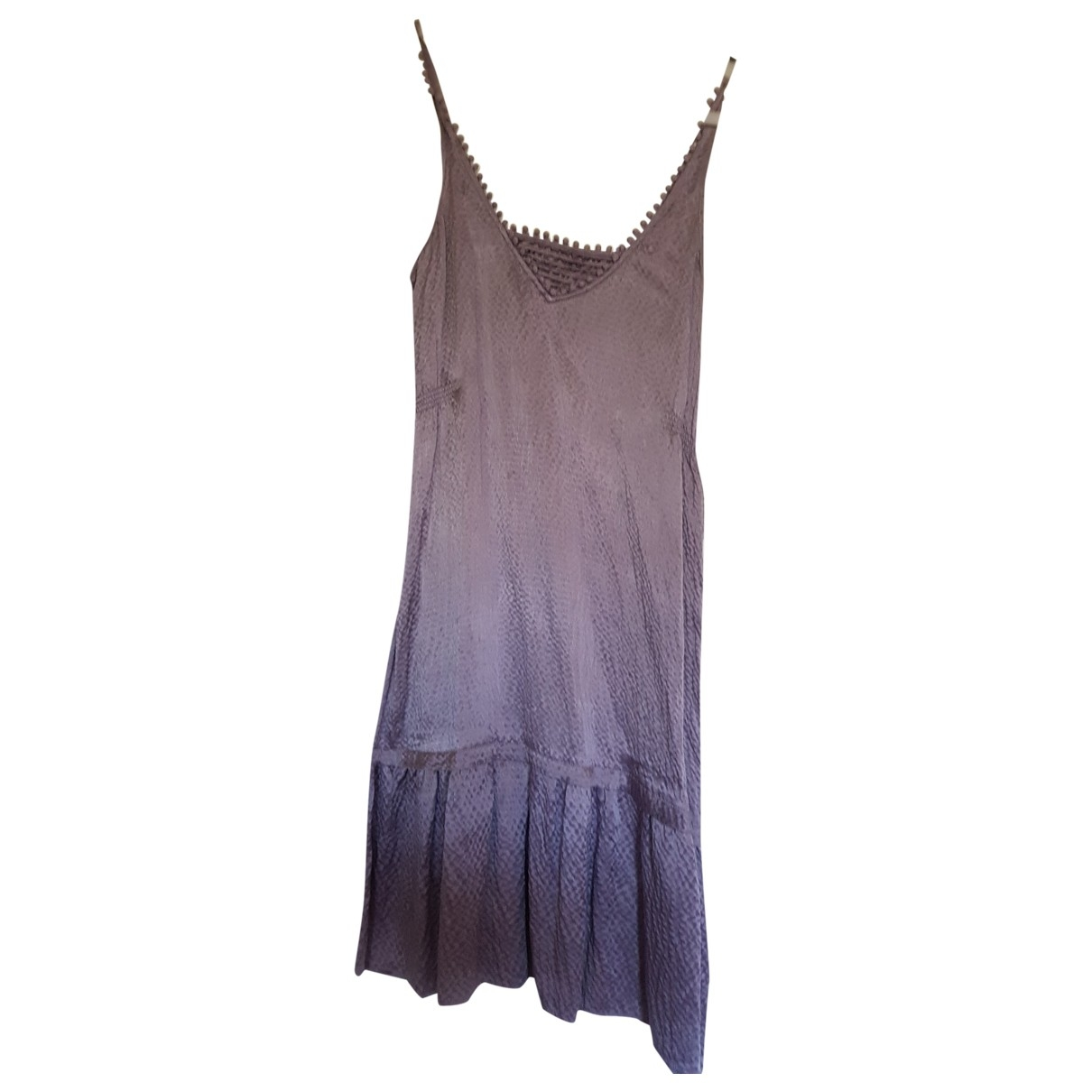 Non Signé / Unsigned \N Purple Silk dress for Women 36 FR