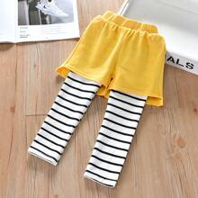 Pantalones 2 en 1 de rayas