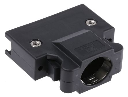 3M , 103 PBT D-sub Connector Backshell, 36 Way, Strain Relief, Black