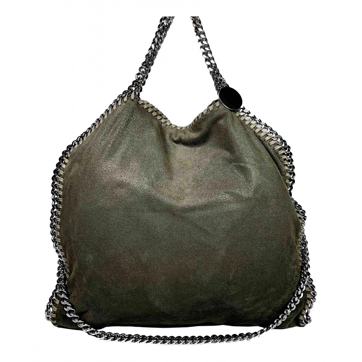 Stella Mccartney Falabella Handtasche in  Khaki Synthetik