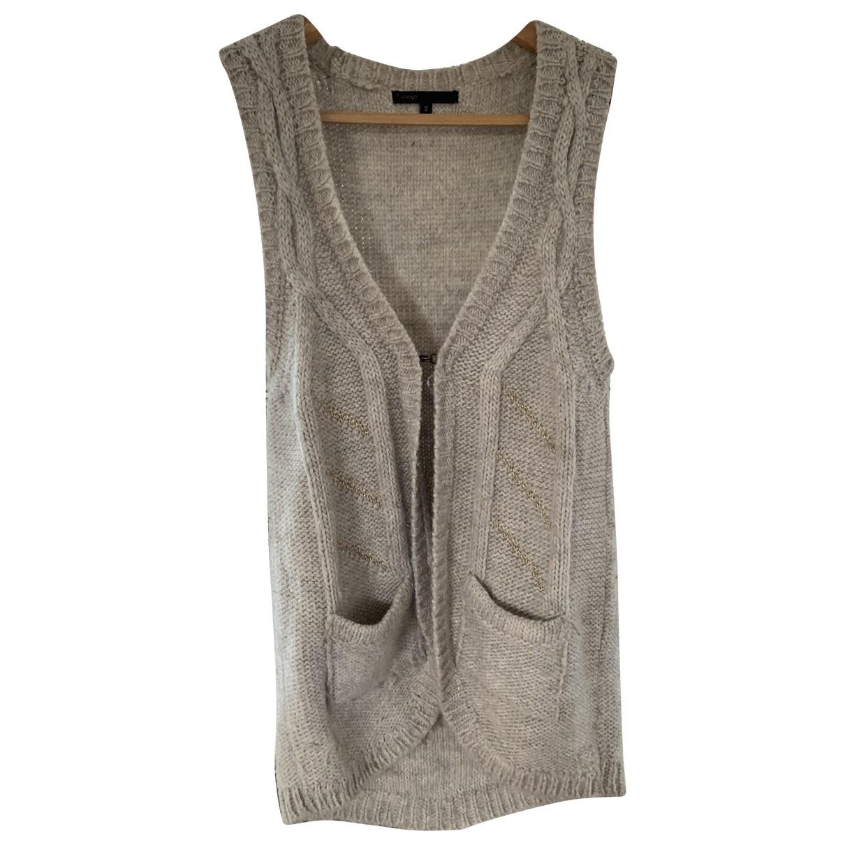 Maje - Pull   pour femme en laine - beige
