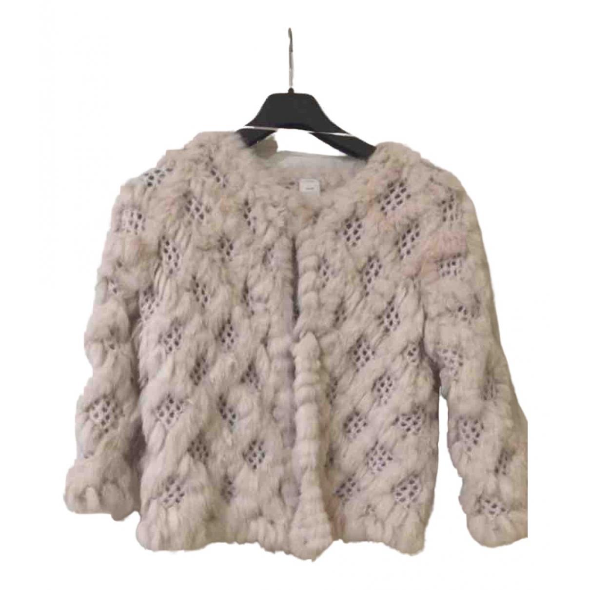 - Manteau   pour femme en lapin - rose