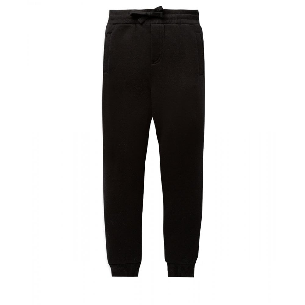 Dolce & Gabbana Cotton Joggers Colour: BLACK, Size: 6 YEARS