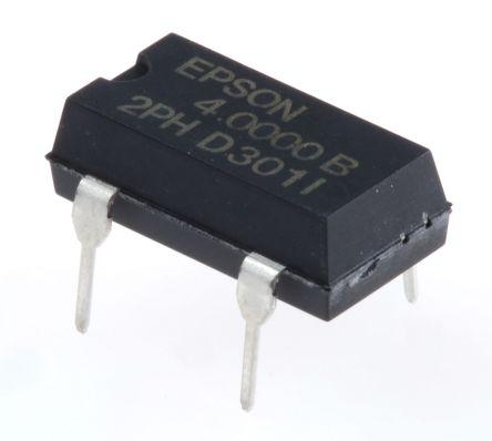 Epson , 4MHz XO Oscillator, ±50ppm CMOS, 4-Pin PDIP Q3204DC21031500