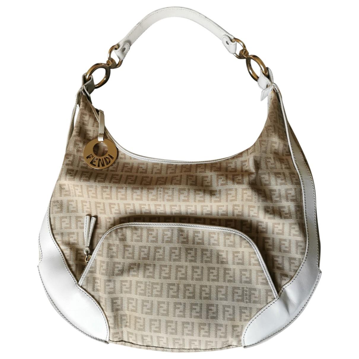 Fendi Oyster Handtasche in  Beige Baumwolle