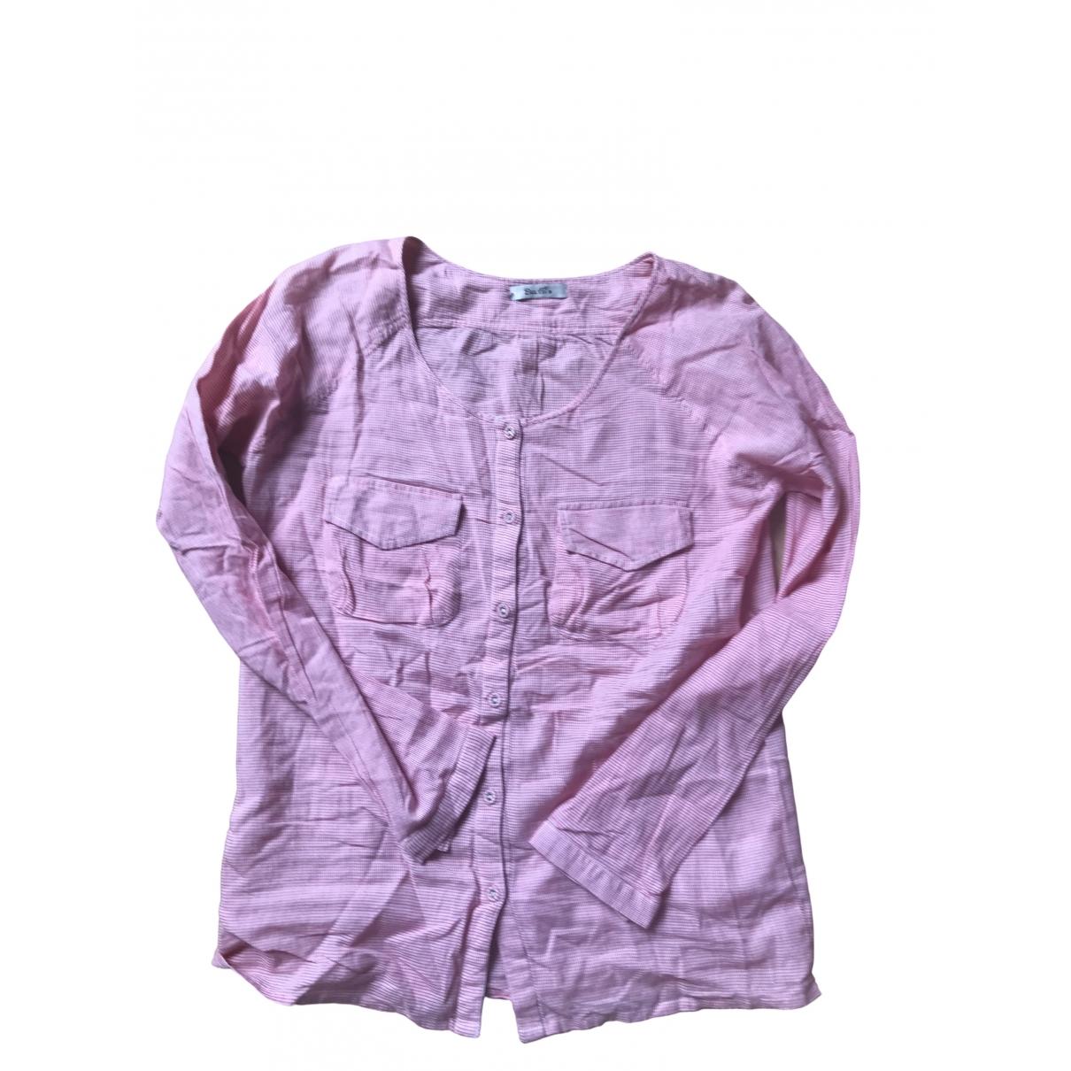 Bel Air - Top   pour femme en coton - rouge