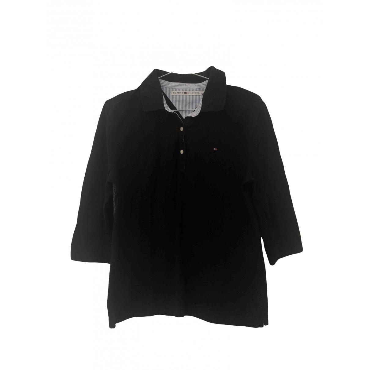 Tommy Hilfiger - Top   pour femme en coton - noir