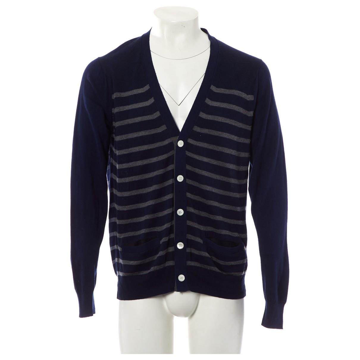 Sacai - Pulls.Gilets.Sweats   pour homme en coton - marine