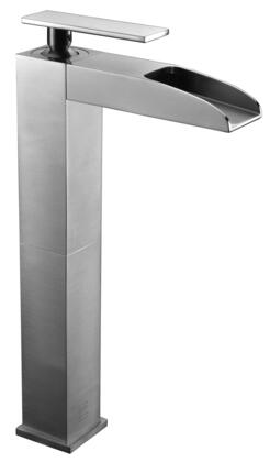 AB1597-BN Tall Waterfall Bathroom Faucet with Brass  Valve  Single Lever Control  Single Hole Deck Mount Installation  UPC Certified And 5-Year