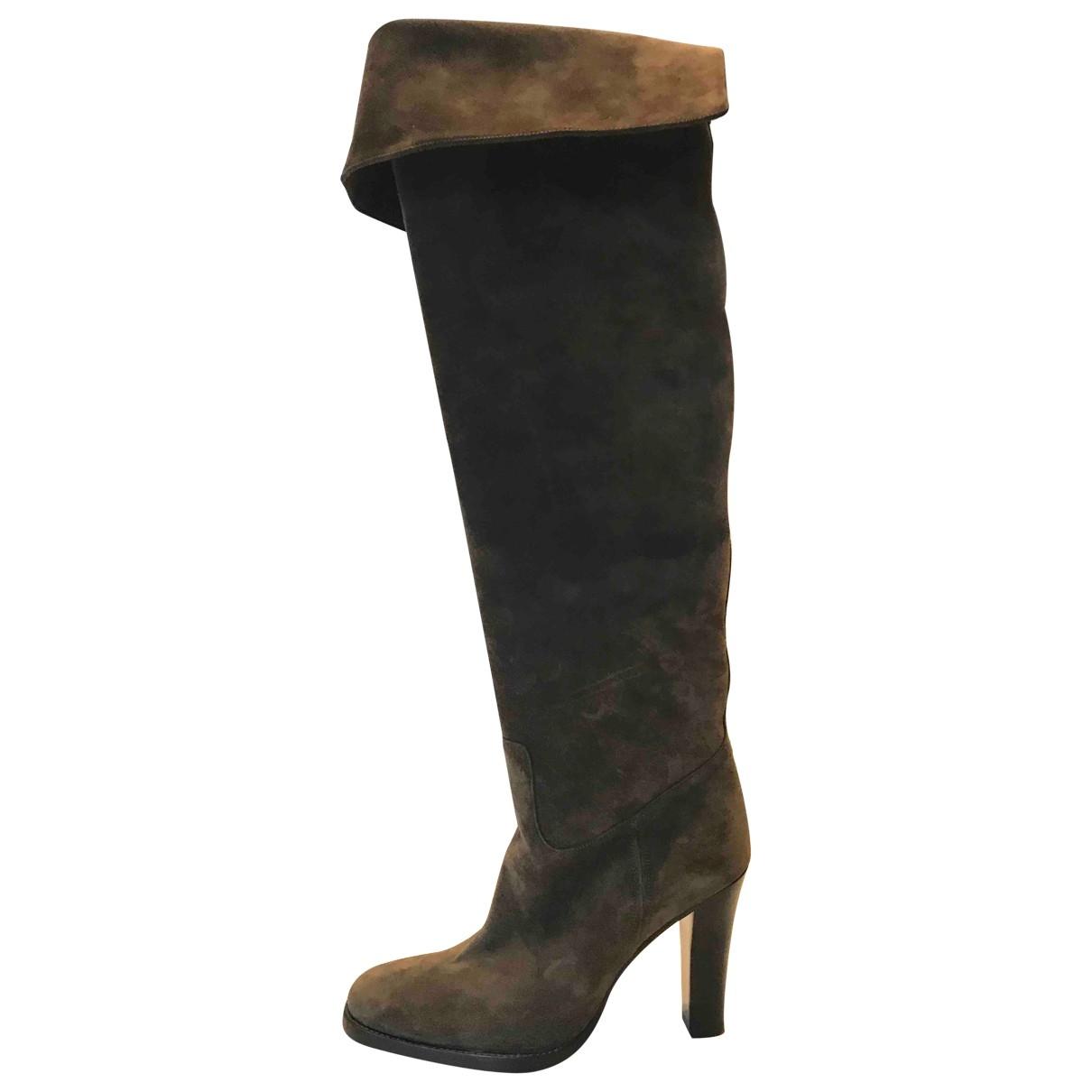 Ralph Lauren \N Brown Suede Boots for Women 37 EU