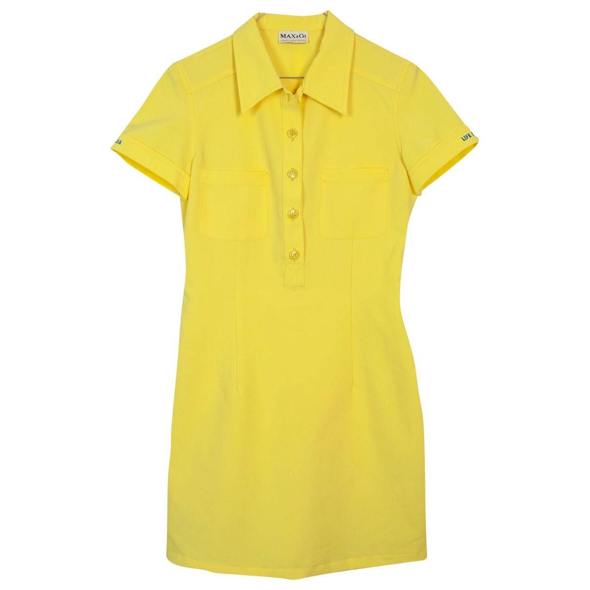 Max & Co \N Kleid in  Gelb Polyester