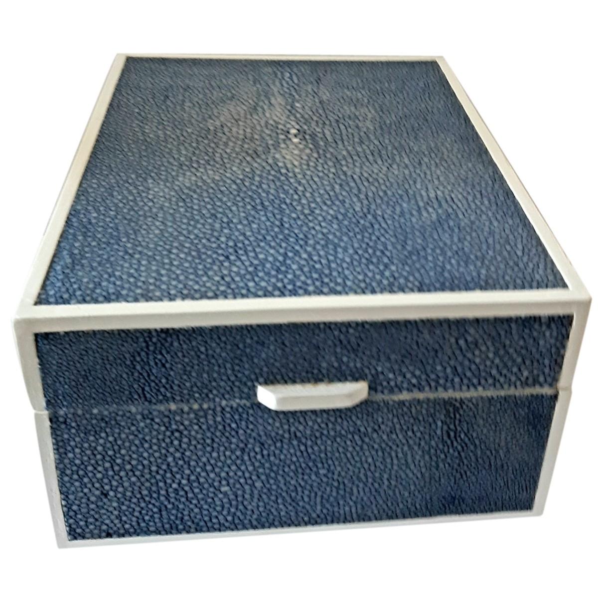 - Objets & Deco   pour lifestyle en galuchat - bleu