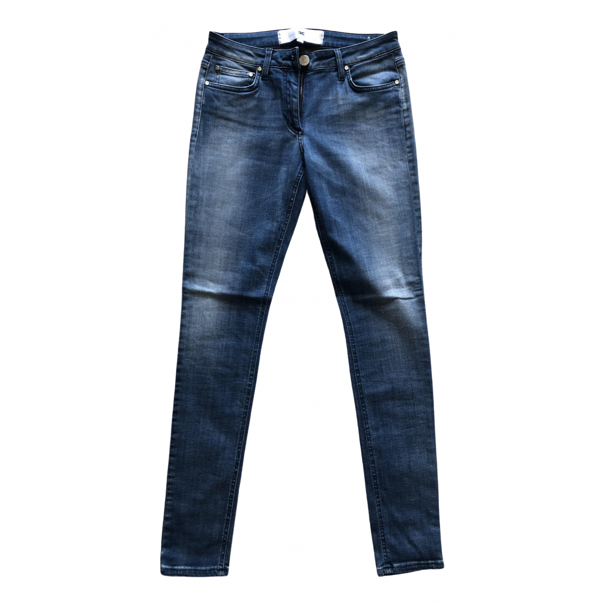 Elisabetta Franchi \N Blue Cotton Jeans for Women 40 FR