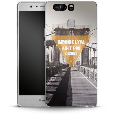 Huawei P9 Silikon Handyhuelle - BKLYN Aint For Sissies von Statements
