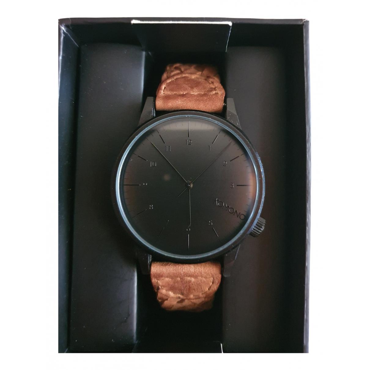 Komono \N Camel Steel watch for Men \N