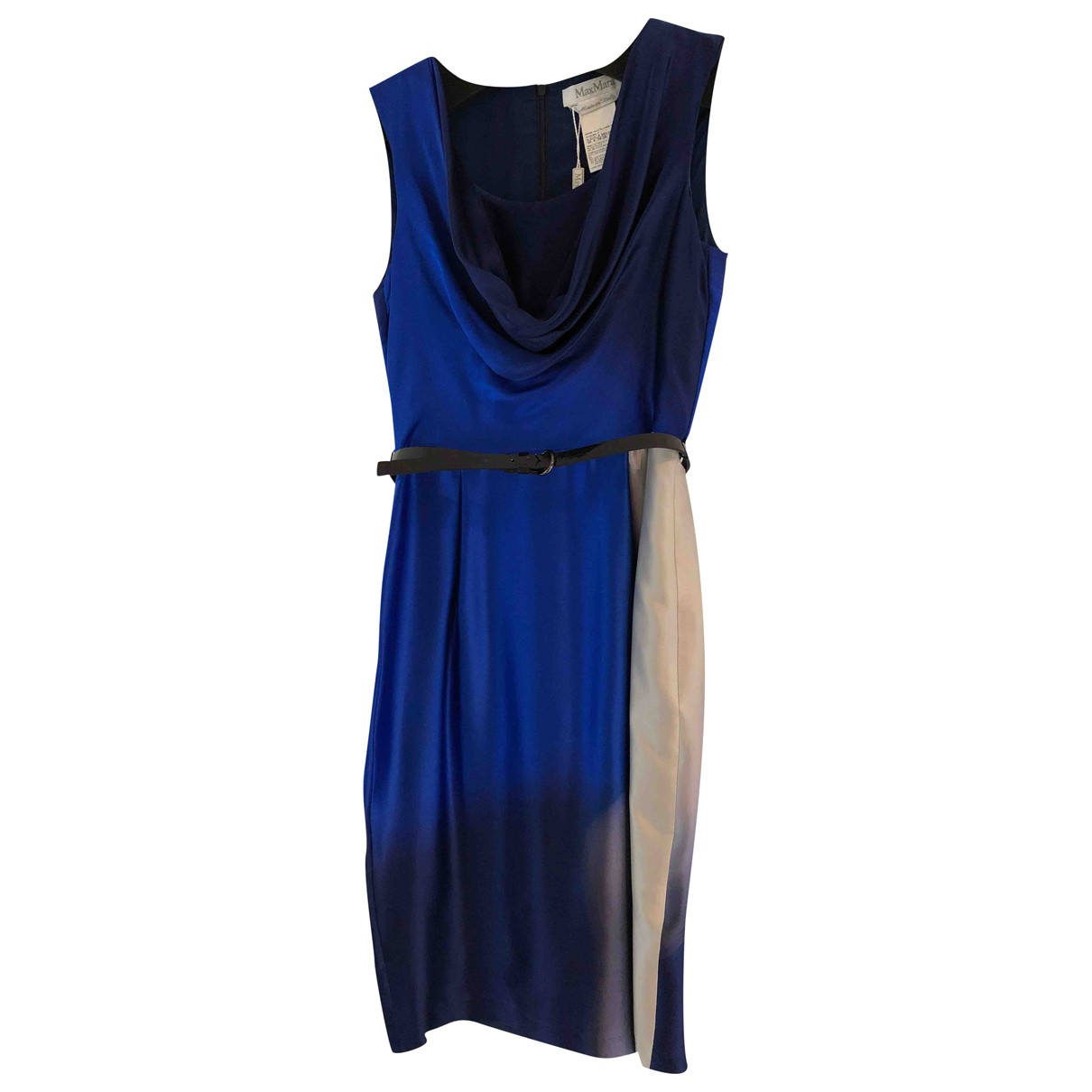 Max Mara N Blue Silk dress for Women 8 UK