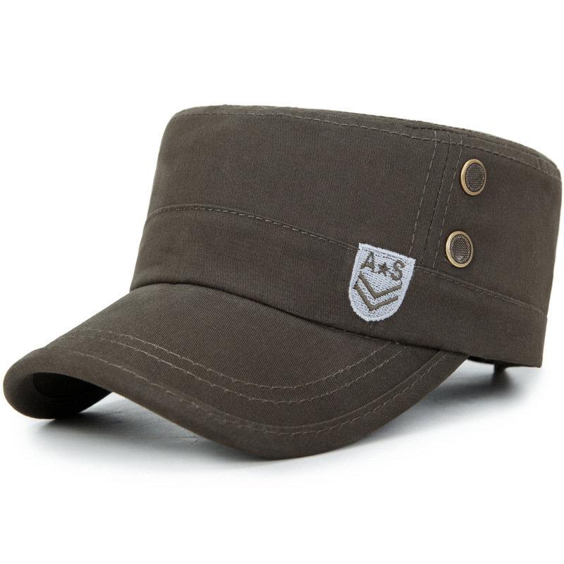Mens Summer Vintage Brim Flat Cap Breathable Washed Cotton Sun Hat Outdoor Sports Cap