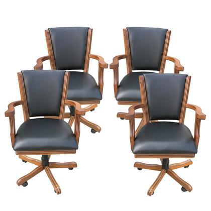 NG2351CH  Kingston Oak Poker Table Arm Chair - Set Of