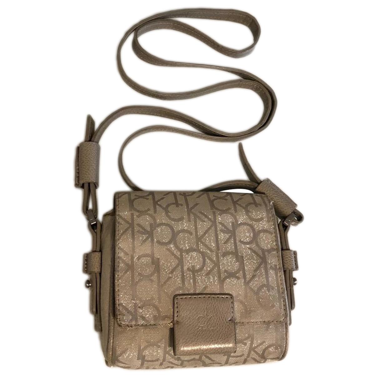 Calvin Klein \N Handtasche in  Beige Leinen