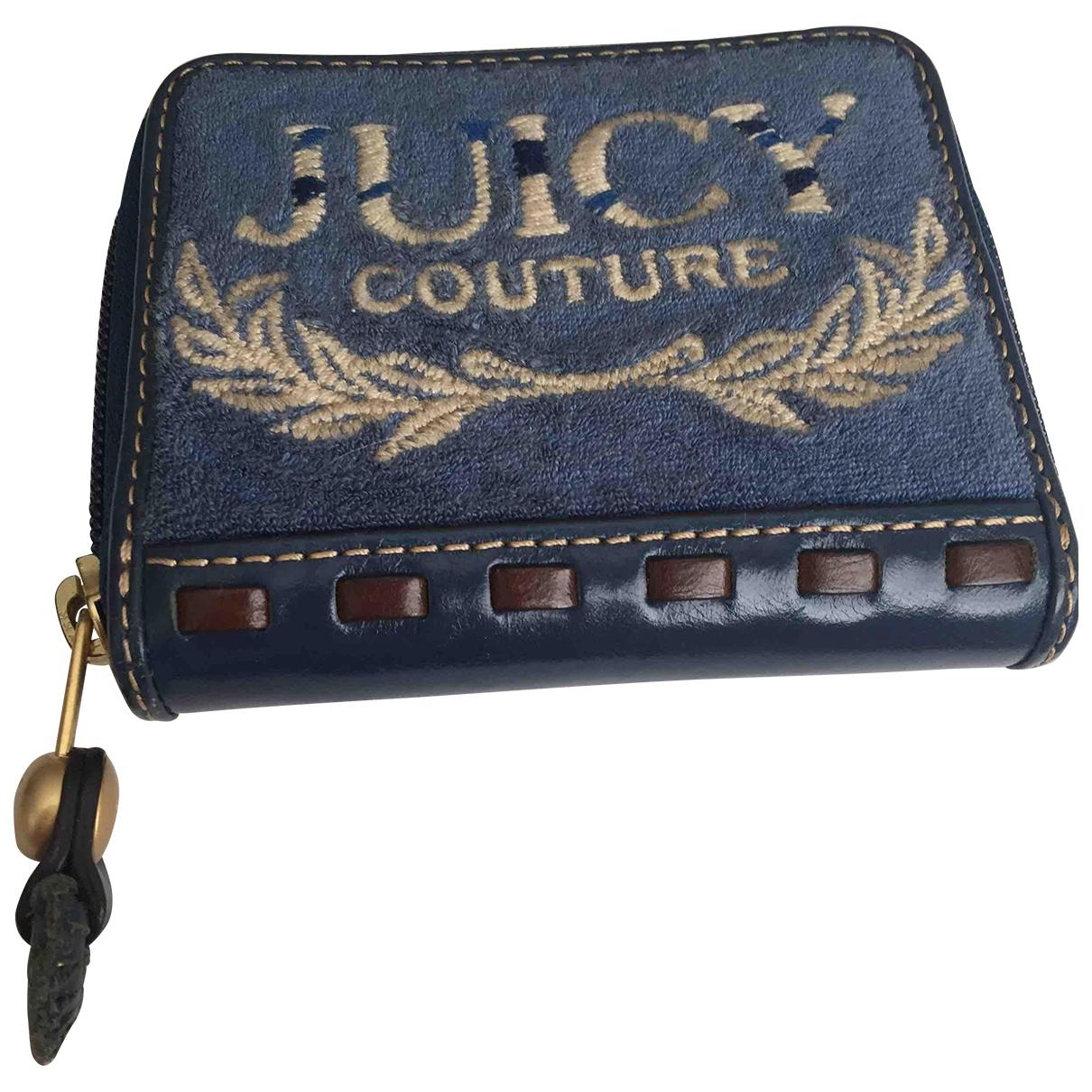 Juicy Couture - Petite maroquinerie   pour femme en toile - bleu
