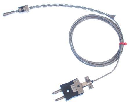 RS PRO Type J Thermocouple 2m Length, 6mm Diameter → +350°C