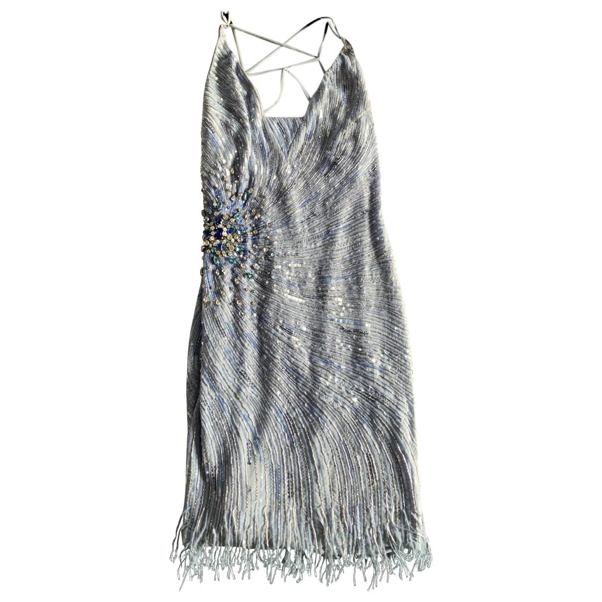 Roberto Cavalli \N Kleid in  Blau Baumwolle - Elasthan