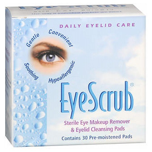 Eye Scrub Sterile Eye Makeup Remover And Eyelid Cleansing Pads 30 each by Alcon