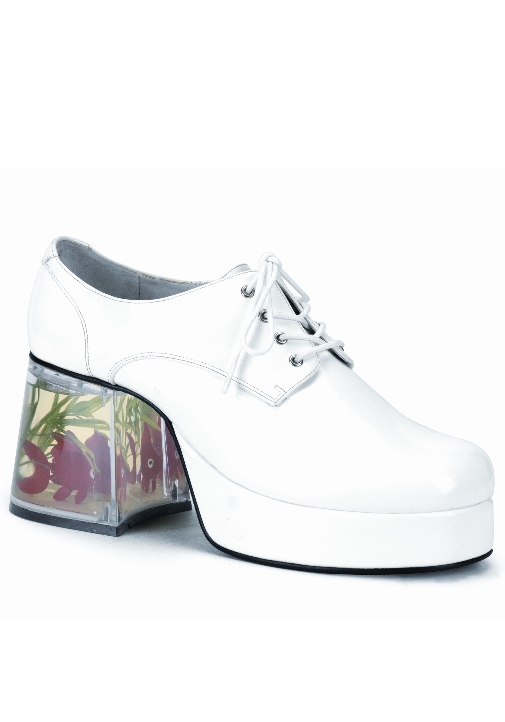 Gold Fish Disco Costume Shoes