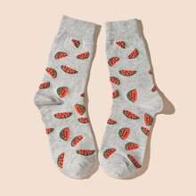 Men Watermelon Pattern Socks