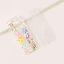 1box Faux Pearl & Flower Shaped Nail Art Decoration