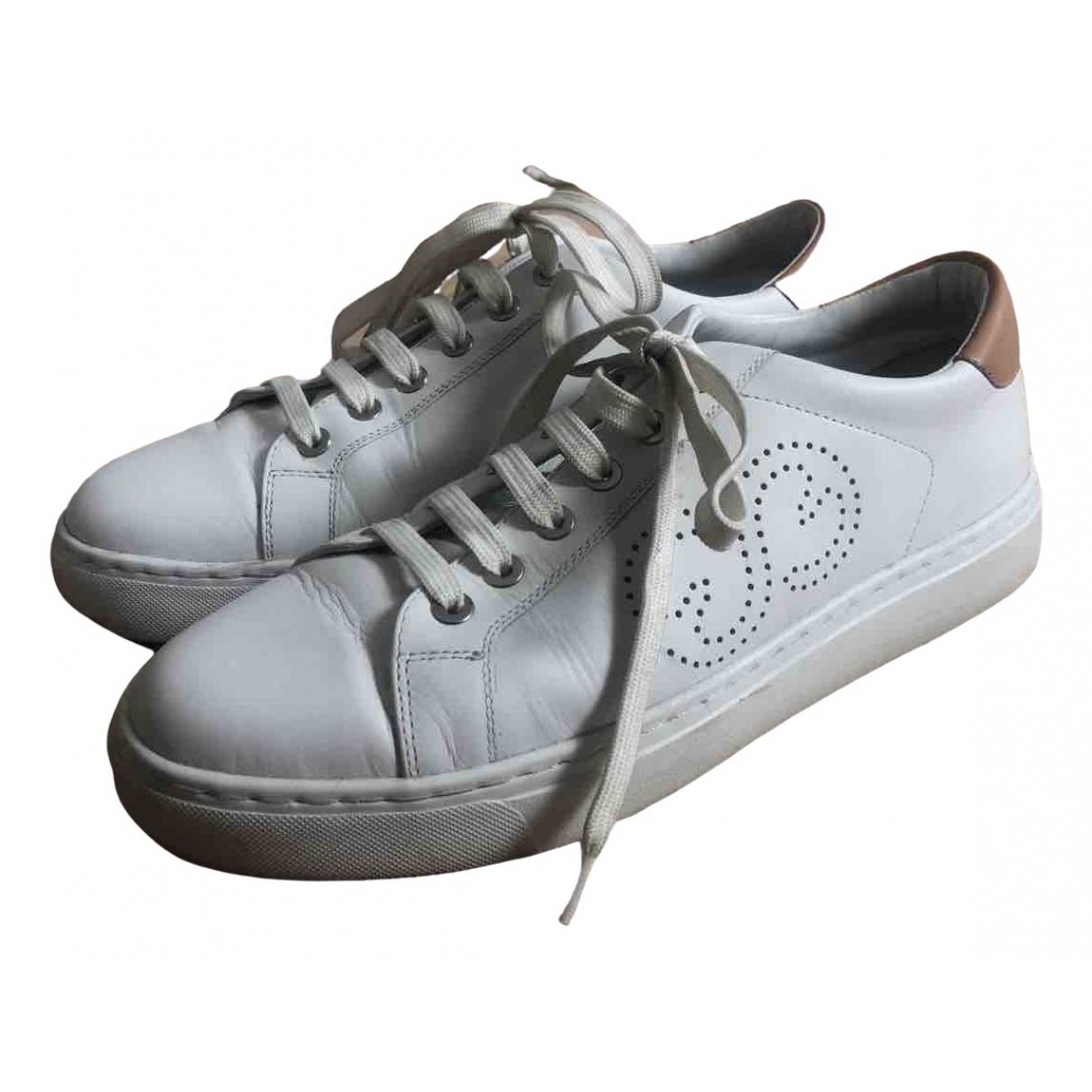 Escada \N Sneakers in  Weiss Leder