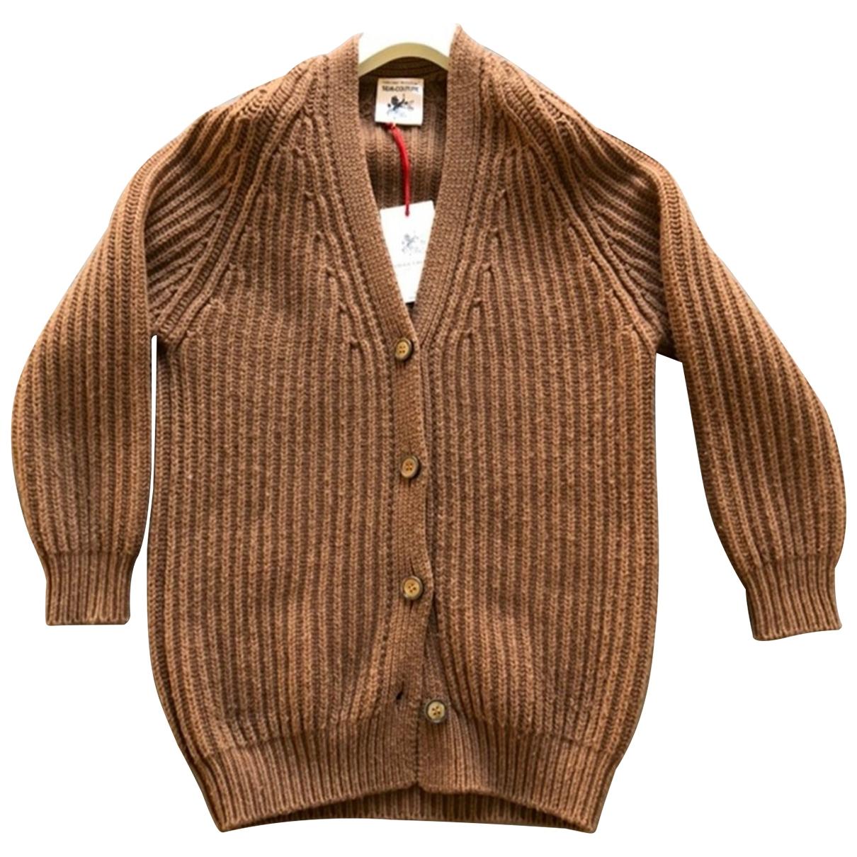 Semicouture - Pull   pour femme en laine - camel