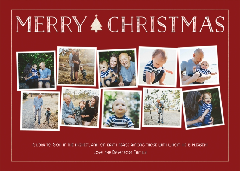 Christmas Photo Cards Flat Matte Photo Paper Cards with Envelopes, 5x7, Card & Stationery -Simple Christmas Tidings