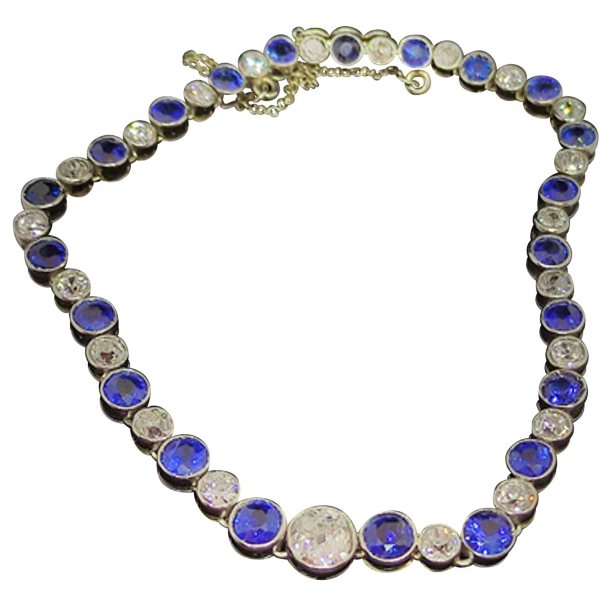 - Bracelet Art Deco pour femme en or blanc - blanc