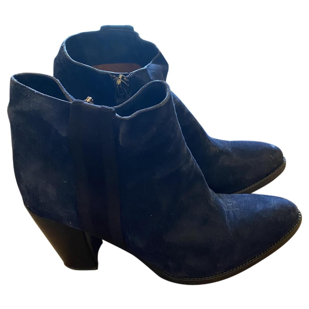 Sartore - Boots   pour femme en cuir - marine