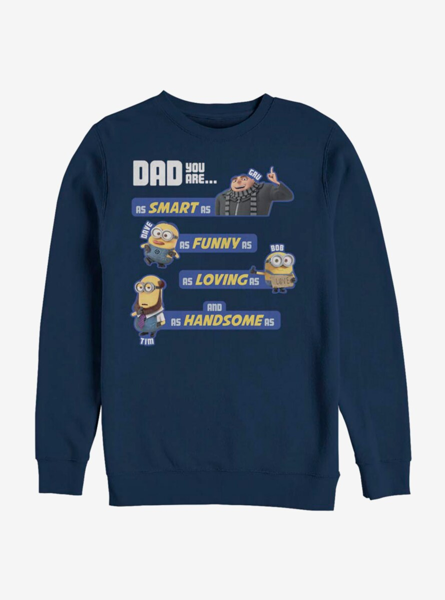 Despicable Me Minions As Dad As Sweatshirt