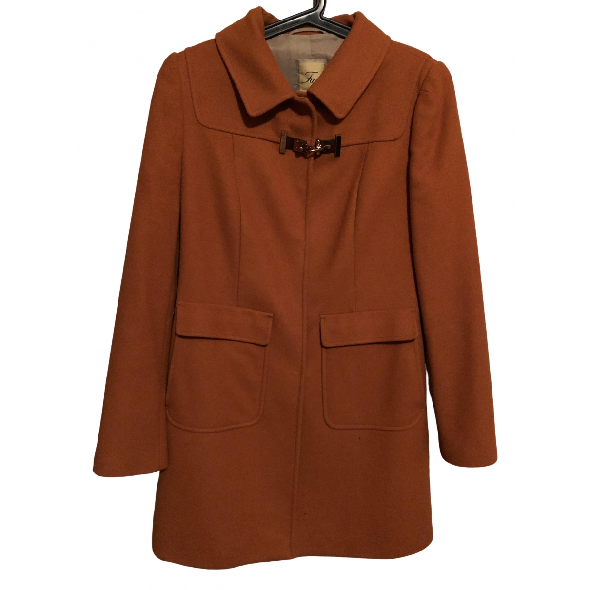 Fay \N Orange Wool coat for Women L International