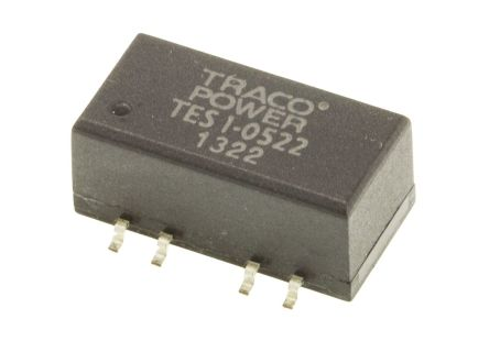TRACOPOWER TES 1 1W Isolated DC-DC Converter Surface Mount, Voltage in 4.5 → 5.5 V dc, Voltage out ±12V dc