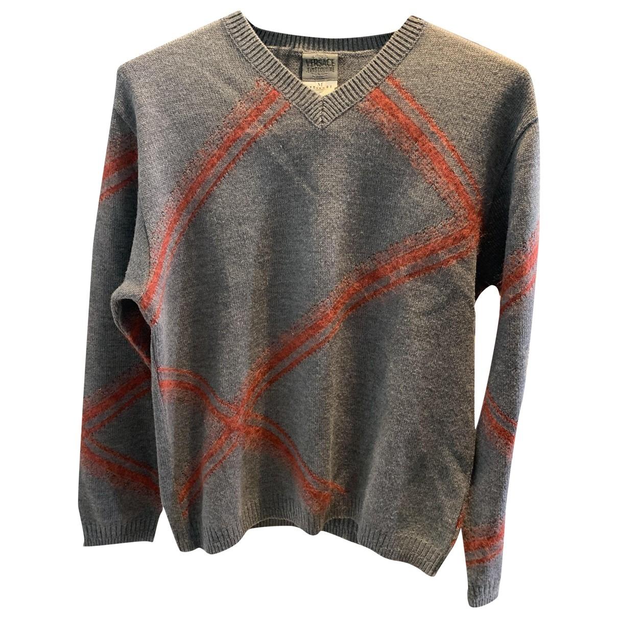 Versace Jeans \N Pullover.Westen.Sweatshirts  in  Grau Wolle