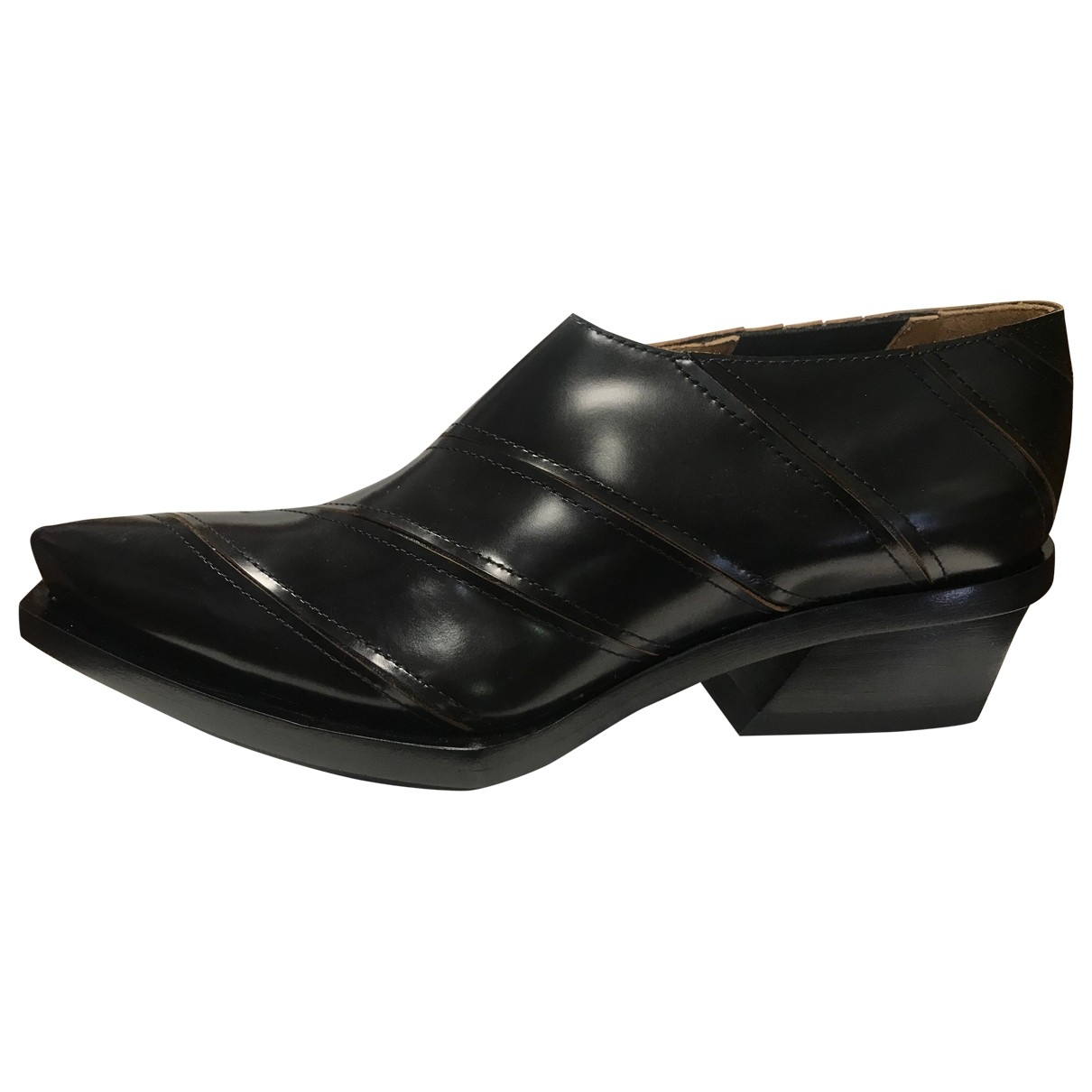 Proenza Schouler \N Black Leather Ankle boots for Women 38 IT