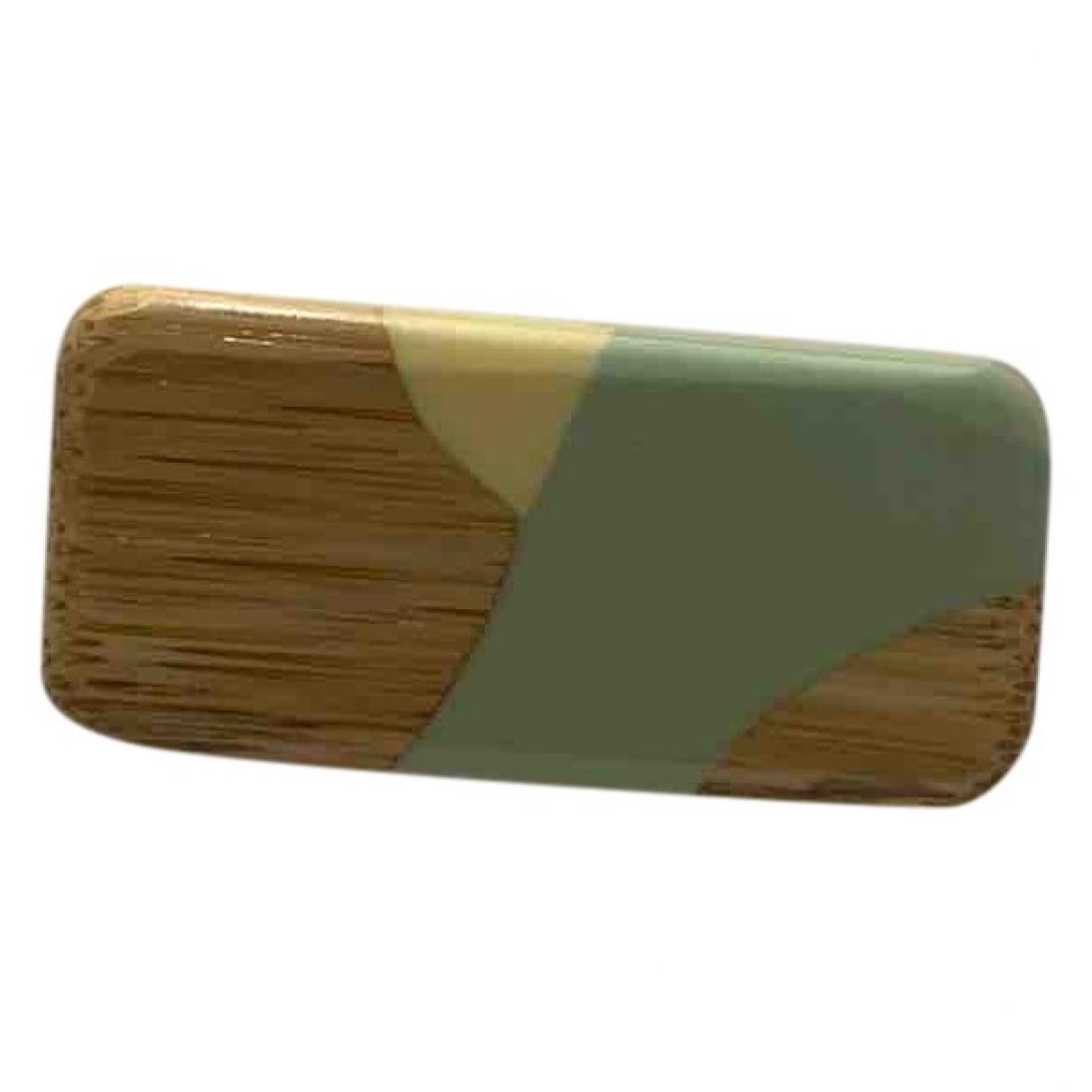 Marni - Broche   pour femme en bois